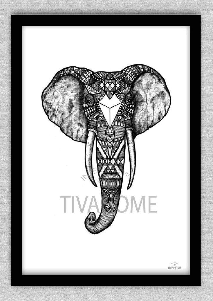 Cuadro Elefante BN - Comprar en TIVAHOME