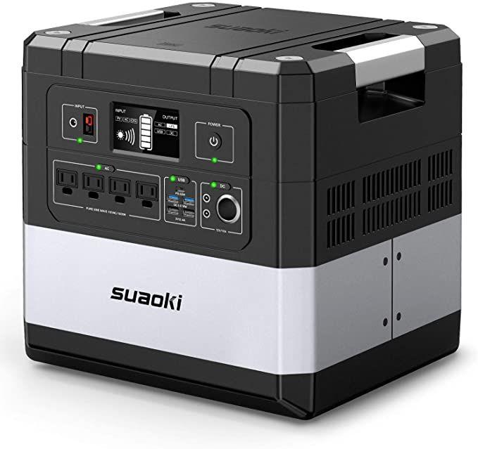 Amazon Com Suaoki Ups Power Station G1000 Portable Power Supply 1183wh Silent Gas Free Generator Lifepo4 Batt In 2020 Portable Power Supply Ups Power Portable Power