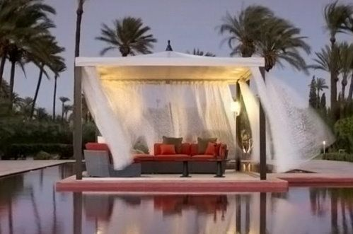 Kettal Outdoor Furniture Surrounded By Sheer Curtains   Textile Blog   |  Trends | Style | Innovation | Technology | Textilepedia   The Textile Encyu2026