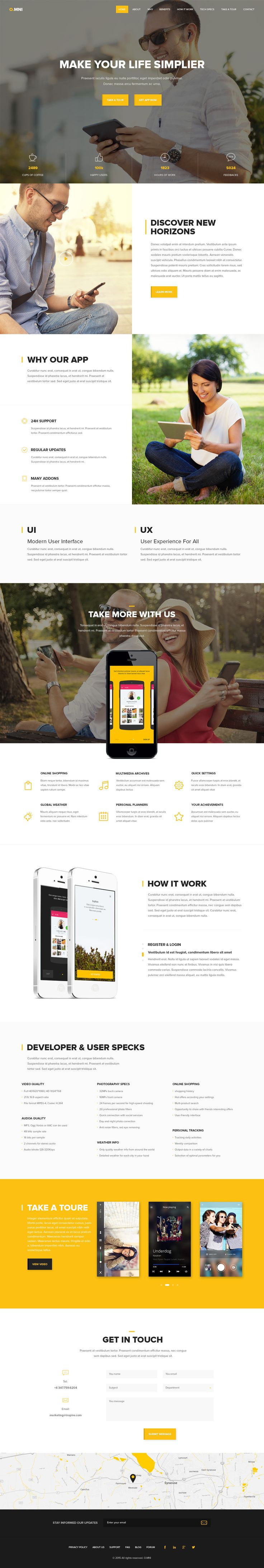 wedding invitation template themeforest%0A Buy Omni  Modern HTML App Template by UnionAgency on ThemeForest  Omni is  a one page creative  clean and moder html templates
