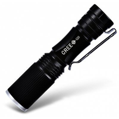 Share and Get It FREE Now | Join Gearbest |   Get YOUR FREE GB Points and Enjoy over 100,000 Top Products,Cree XPE Q5 600Lm Zoomable LED Flashlight 1 x AA / 14500