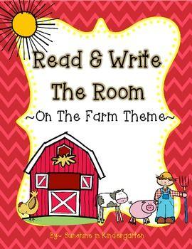 FREE Read & Write The Room {On The Farm Theme}