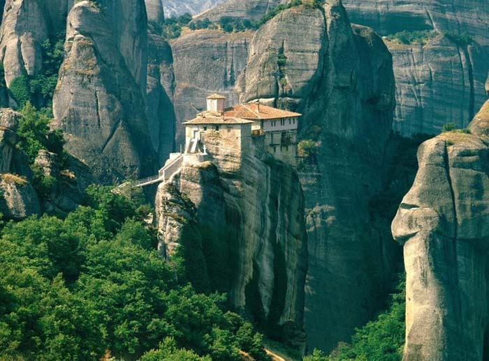 Meteora Greece | Clifftop Monasteries   I was here in 2010 and just marveled at this feat of engineering.  At one time, there were almost 40 working monasteries on these clifftops!