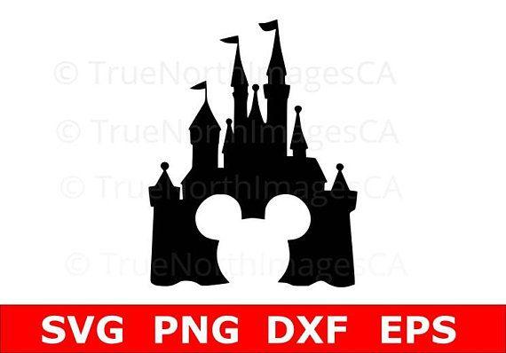Disney Castle SVG / Mickey Mouse SVG / Castle SVG / Disney Clipart / Castle Silhouette / Mickey Head svg / Disney Castle Vector / Disney svg