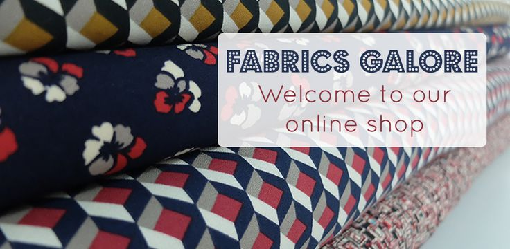 Fabric emporium stuffed full of dressmaking fabrics, Liberty lawns, quilting cottons + home furnishing fabrics. Saving good people from bad fabric everyday!