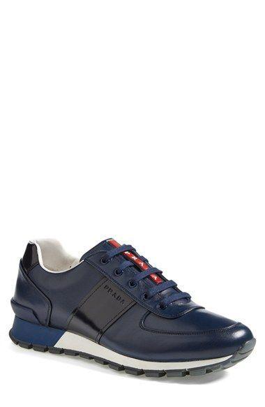 6ee24685753f7 Prada Leather Sneaker (Men) erhältlich bei  Nordstrom  HerrenSchuhe  schuhe   HerrenSneaker  Sneaker  sommerschuhe  Herren
