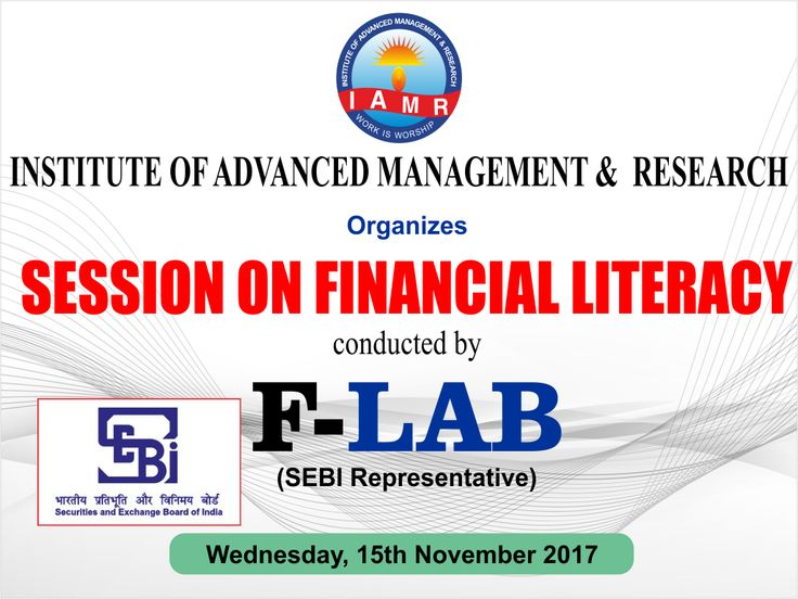 "Institute of Advanced Management and Research Ghaziabad, Dept of Management is organising session on financial literacy by SEBI representative F-LAB India. ""The objective is to create a Financially Aware and Empowered India and to help people manage money more effectively to achieve Financial Well Being"" by ensuring access to appropriate Financial Products and Services. In India we believe Financial Awareness is the best way to protect one's Wealth.."