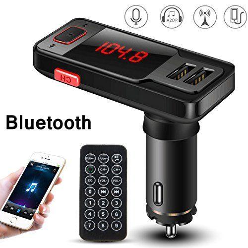 M.Way Kit de Voiture Transmetteur FM sans fil Bluetooth Lecteur pour iPhone 6/5 iPod iPad Galaxy S6 MP3 MP4: Emballage inclus: 1 x kit de…