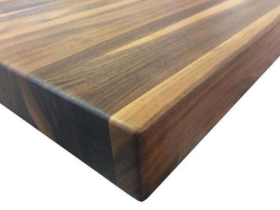 Rustic Walnut Butcher Block Countertop – Edge Grain – Kitchen Island Top – Custom Sizes Available