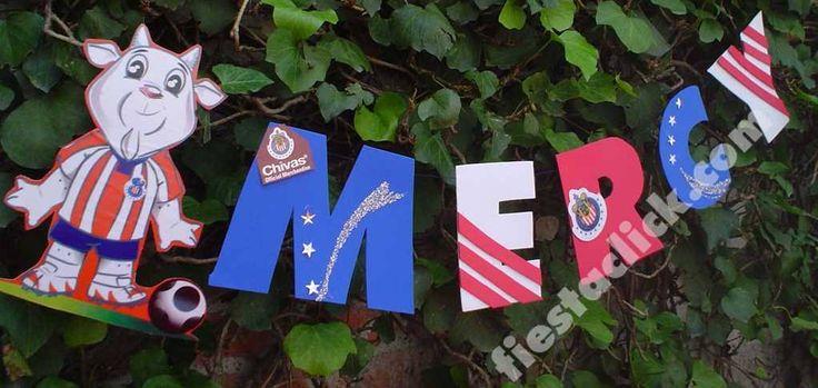 Banner de nombre con los colores las rayas, y los escudos de las Chivas