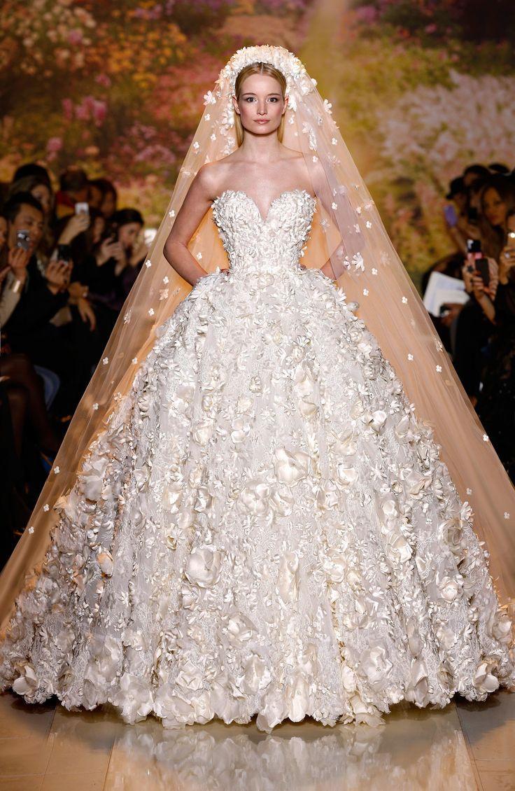 Designer Wedding Dresses with Flowers