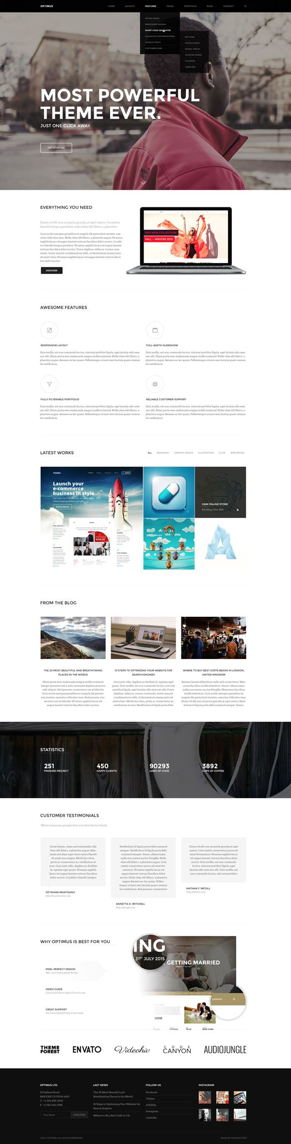 Awesome Css Designs - Optimus a super easy to use multi concept html5