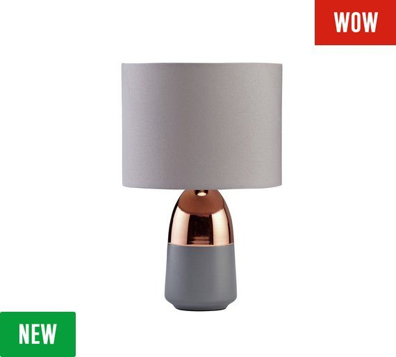 Buy HOME Duno Touch Table Lamp - Grey & Copper at Argos.co.uk - Your Online Shop for Table lamps, Lighting, Home and garden.