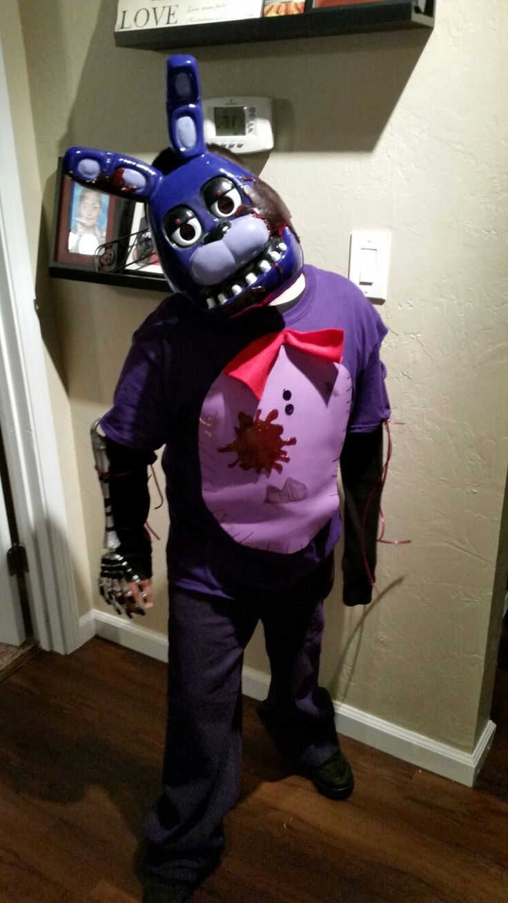 Fnaf bonnie costume for sale - Fnaf Five Nights At Freddys Bonnie Costume Freddy Faz Bear Happy Halloween