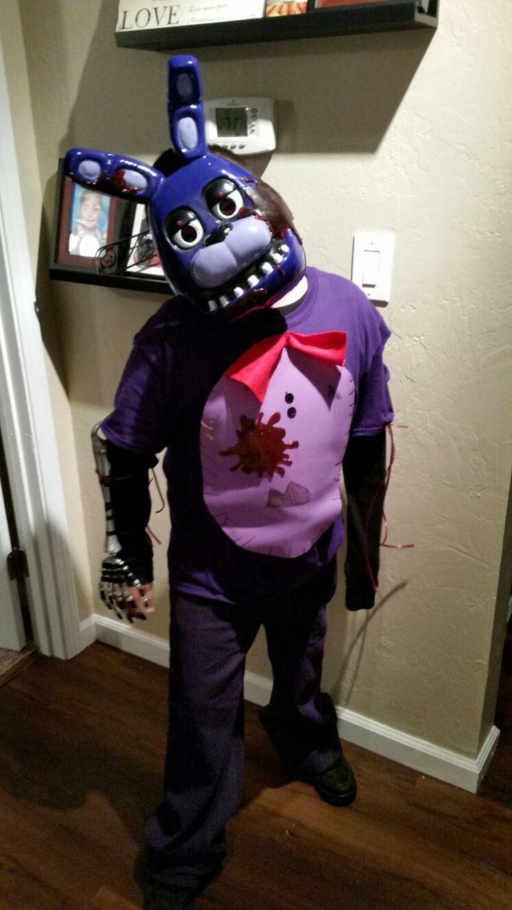 Fnaf, five nights at freddys, bonnie costume, freddy faz bear, Happy Halloween, creepy bunny..