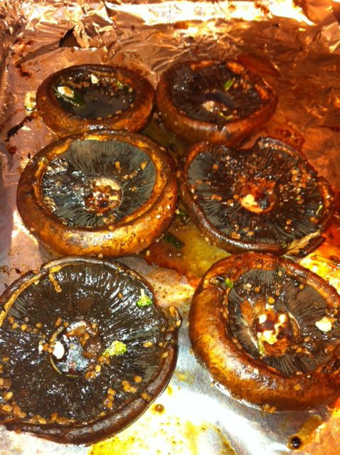 Marinated and Roasted Portobello Mushrooms   Vegan American Princess   + soy sauce, worchestershire sauce, brown sugar, balsalmic