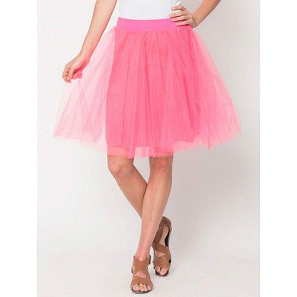 Choies Light Pink Sheer Panel Layered High Waist Pleat Pouf Skirt ($9.90) ❤ liked on Polyvore featuring skirts, pink, sheer panel skirt, light pink skirt, knee length pleated skirt, pink high waisted skirt and high-waist skirt
