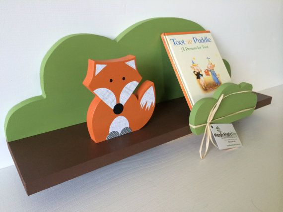 """This handcrafted Tree Shelf will add instant fun and function to any childs room or nursery.    MEASURES: 23""""long X 9 high X 5 1/2deep    COLOR:"""