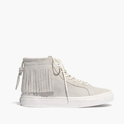 Synonymous with skateboarders, surfers and Southern California (where the brand was founded in 1966), Vans shoes are true sneaker icons. These fringed lace-ups are a playful hybrid between their timeless suede high-tops and a pair of moccasins.