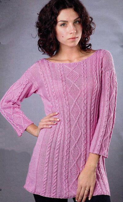Розовая туника. Модели для женщин