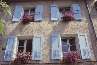 French Country Shutters | am told that the blue / lavender color is more commonly used in ...