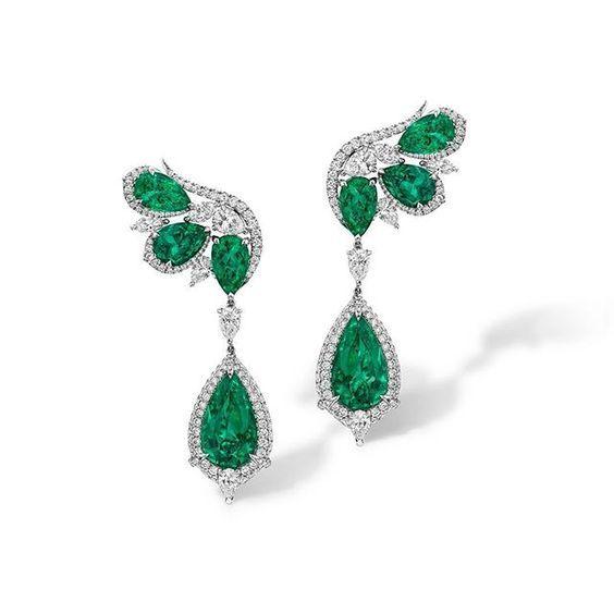 Agta Gems. Earrings featuring Emeralds More