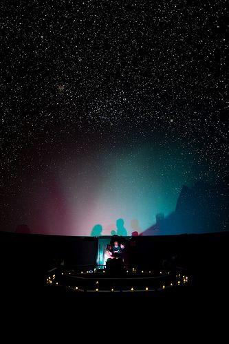 Wedding in a planetarium