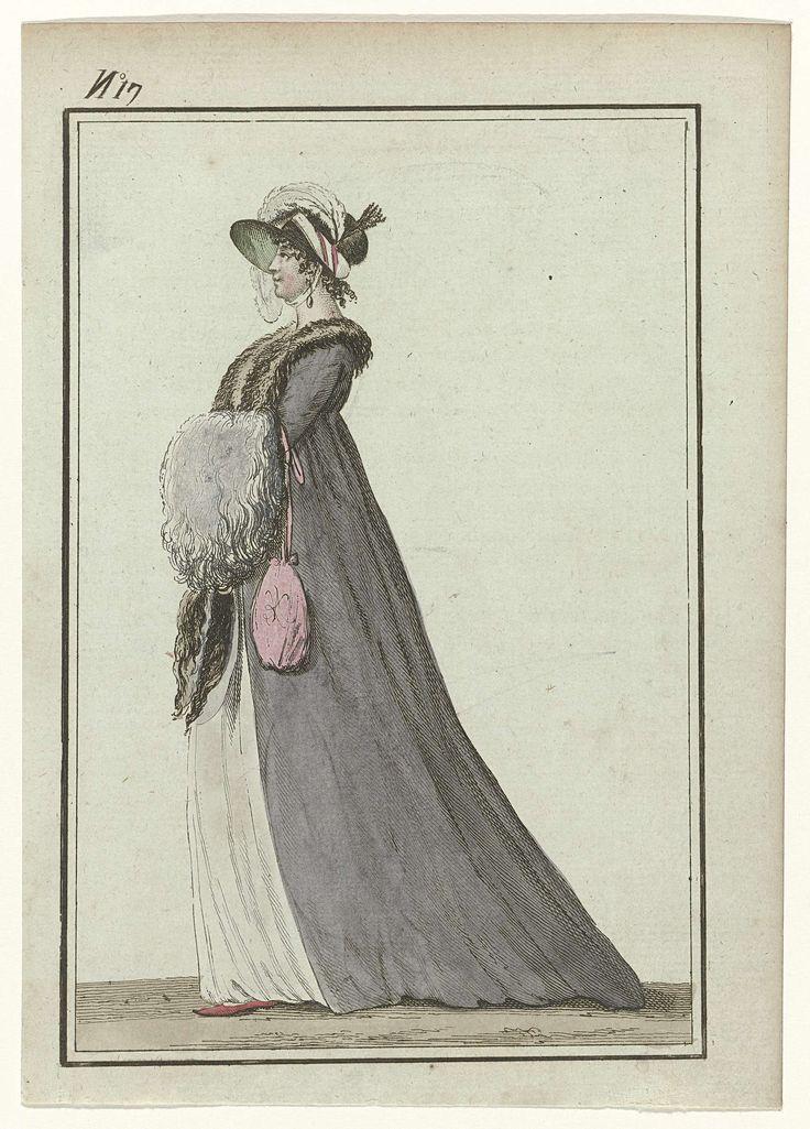Tableau Général du Goût, An 7, No. 17 (20 jan. 1799): Chapeau de velours, palatine de peau de renard..., Gide, 1799