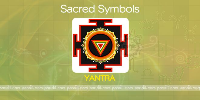 What is Yantra ? by Rahul Kaushal Astrologer ------------------------------------------------------- This sacred Mandala and it has two aspects 'Yan' means to regulate and 'Tra' means to protect. It is a device which regulates the energy dynamics of worshipper, to protect it from decay, disintegration and death.  http://www.pandit.com/what-is-yantra/