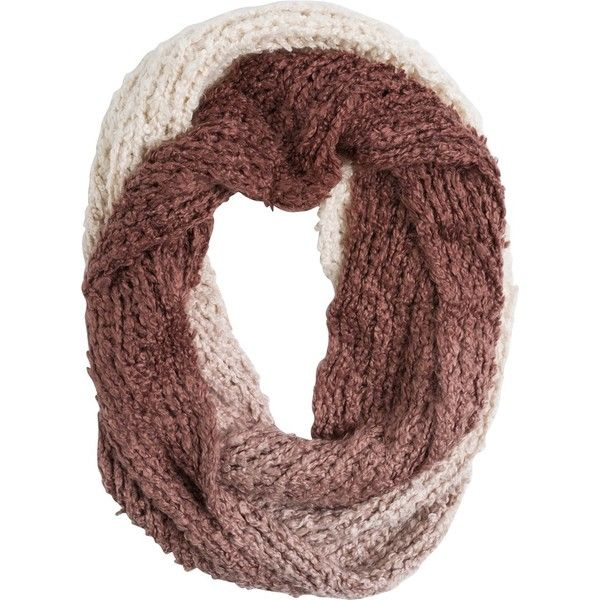 Billabong Sea The Steady Infinity Scarf featuring polyvore, fashion, accessories, scarves, brown, loop scarf, brown scarves, infinity scarves, infinity loop scarves and infinity scarf