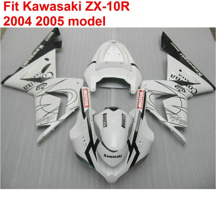 339.48$  Watch here - http://aliz17.shopchina.info/go.php?t=32796020802 - Aftermarket body parts fairing kit for Kawasaki ninja ZX10R 04 05 white black fairings set ZX10R 2004 2005 OP15 339.48$ #magazineonlinebeautiful