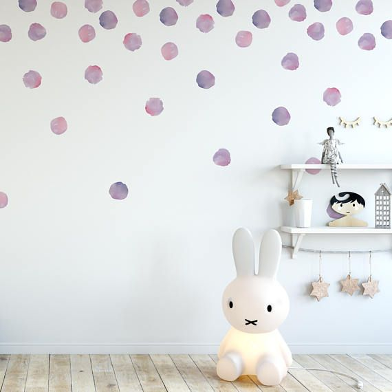 Vinyl Wall Sticker Decal Art Watercolor Polka Dots In 2020