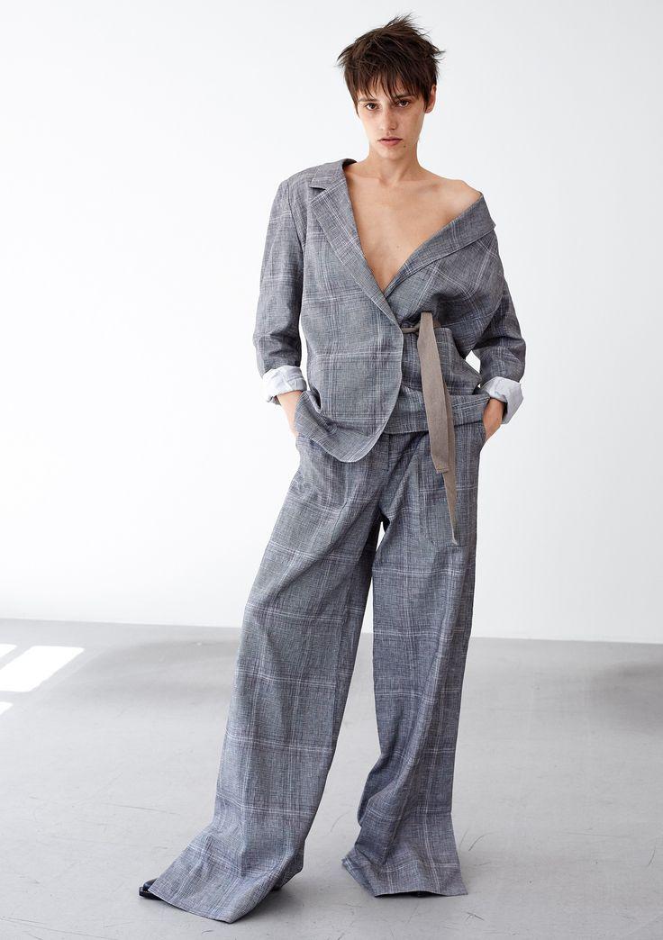 Pure Blazer - Grey Check  #HopeStockholm
