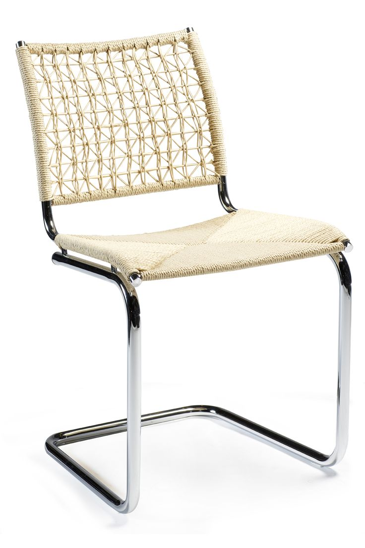 BETA Chair with nature seat and chrome legs