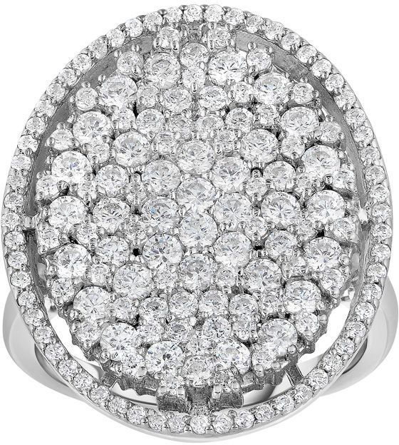Zales Adorne Collection 2 CT. T.W. Composite Diamond Oval Frame Ring in 14K White Gold