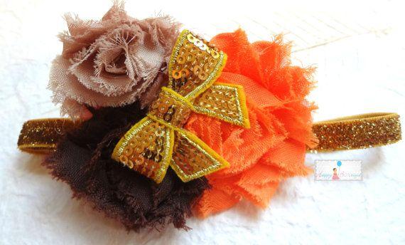 Newborn Autumn Fall Headbands Baby girls Headband by HappyBOWtique, $7.99