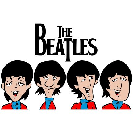 Estampa para camiseta The Beatles 002134