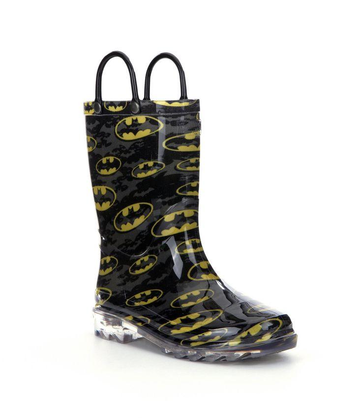 Western Chief Batman Signal Night Light Boys Rain Boots #Dillards