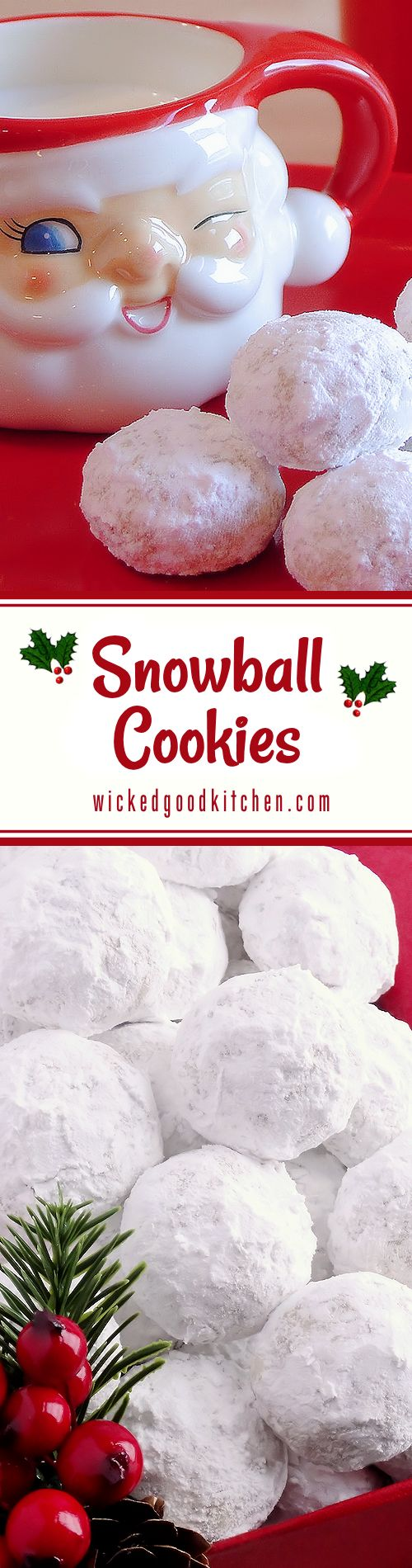 Snowball Christmas Cookies (best ever) ~ Simply the BEST! Buttery, never dry, with plenty of walnuts for a scrumptious melt-in-your-mouth shortbread cookie (also known as Russian Teacakes or Mexican Wedding Cookies). Everyone will LOVE these classic #Christmas cookies!