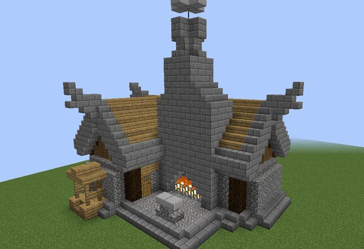Nordic Town Blacksmith - GrabCraft - Your number one source for MineCraft buildings, blueprints, tips, ideas, floorplans!