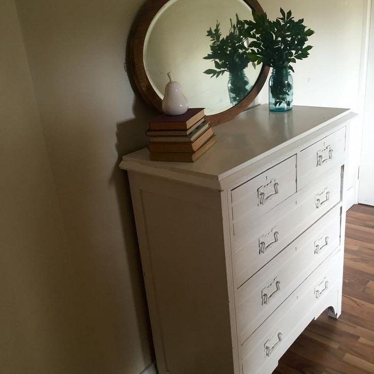 Antique white dresser