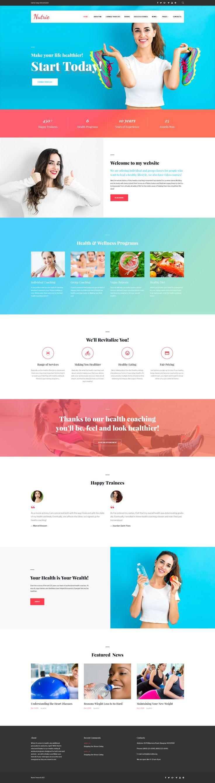 Life Coach Training Wordpress Theme New Website