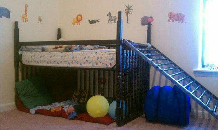 Turn the crib upside down!