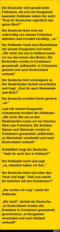 Ein Deutscher sitzt gerade beim Frühstück.. | DEBESTE.de, Lustige Bilder, Sprüche, Witze und Videos