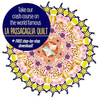 Have you seen the La Passacaglia Quilt? It's the EPP pattern that's causing quite a stir in the modern quilting world. Visit our blog for a crash course in all things La Passacaglia! http://www.lovepatchworkandquilting.com/downloads/la-passacaglia-quilt