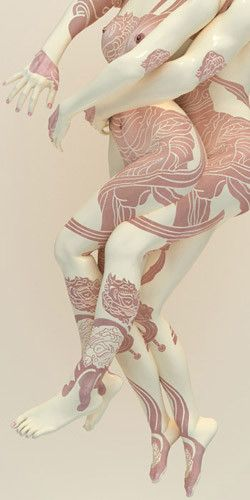 body painting by Korean Artist Kim Joon
