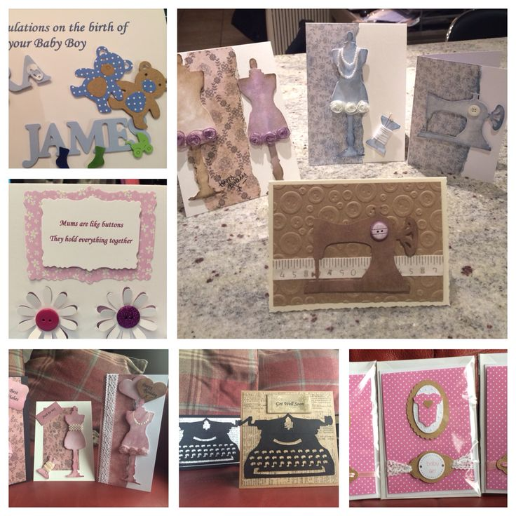 Selection of hand made cards by Lynn