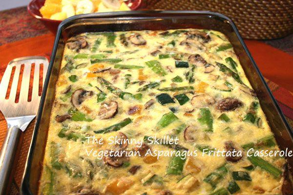 vegetarian breakfast casserole | Vegetarian Asparagus and Mushroom Frittata Casserole ...