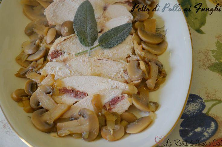 Il Petto di Pollo ai Funghi è un secondo piatto appetitoso e molto semplice da preparare.Avendo un petto di pollo intero l'abbiamo cotto come se fosse un a
