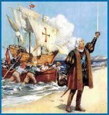 Esta imagen es de cuando Cristóbal Colón llego a América.